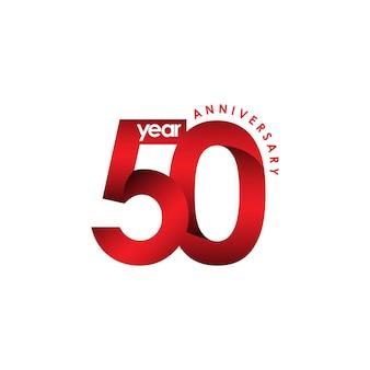 Illustrazione di disegno del modello di vettore di anniversario di 50 anni