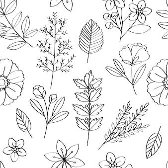 Illustrazione di disegno del modello di vettore floreale