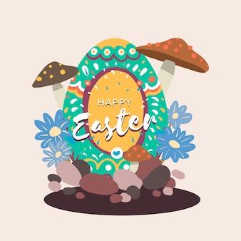 Illustrazione di disegno dell'uovo di pasqua