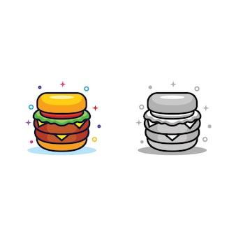 Illustrazione di disegno di hamburger