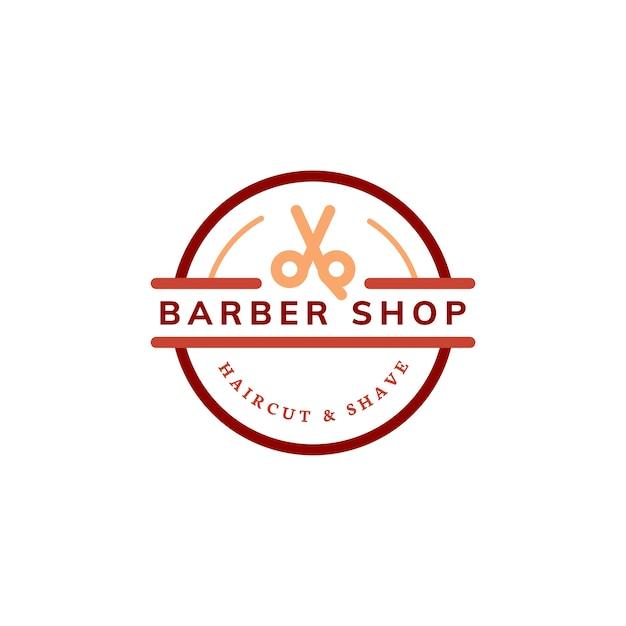 Illustrazione di disegno di marchio del negozio di barbiere