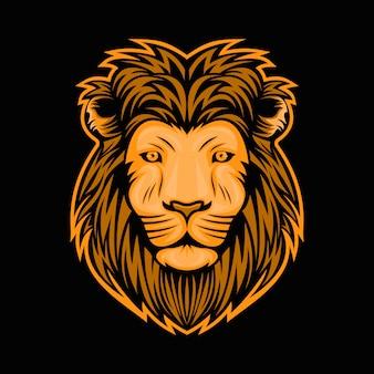 Illustrazione di disegno di vettore della testa del leone