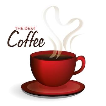 Illustrazione di disegno vettoriale di caffè