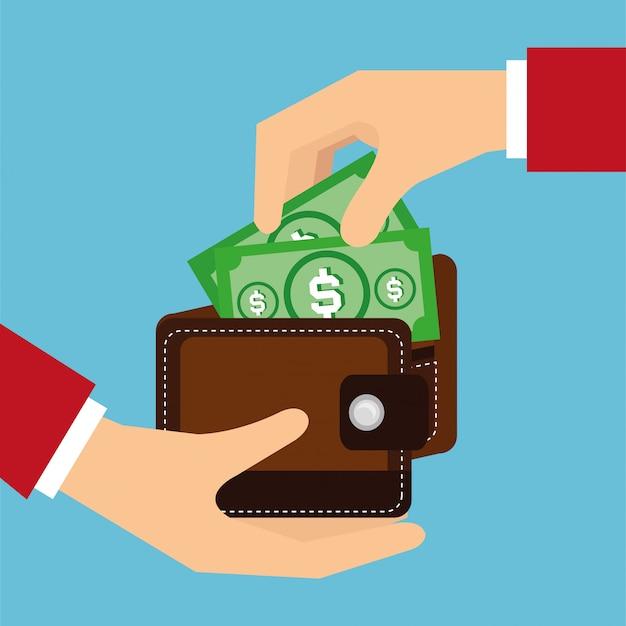 Illustrazione di disegno vettoriale di denaro