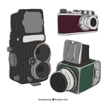Illustrazione di diverse macchine fotografiche d'epoca