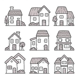 Illustrazione di doodle del fumetto della casa