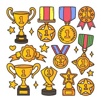 Illustrazione di doodle del premio