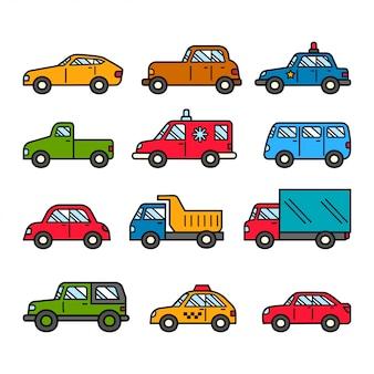 Illustrazione di doodle di auto
