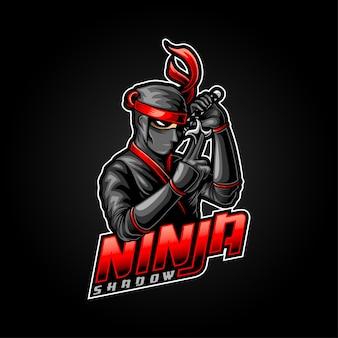 Illustrazione di e-sport ninja