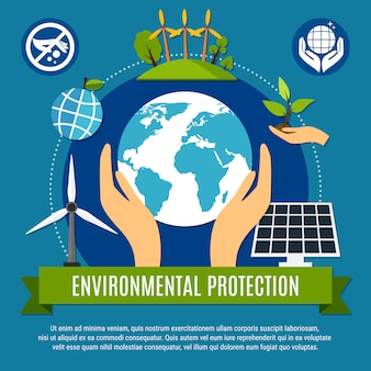 Illustrazione di ecologia e inquinamento