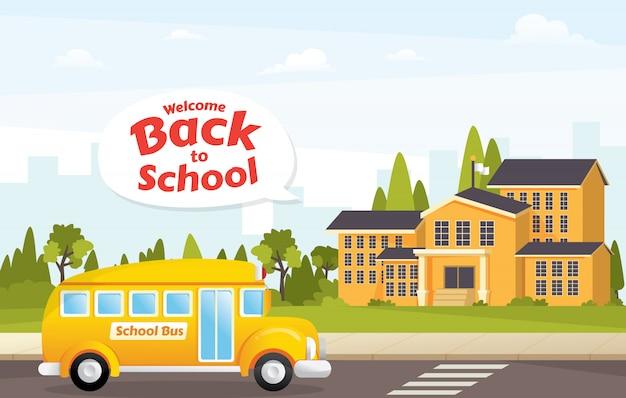 Illustrazione di edificio scolastico