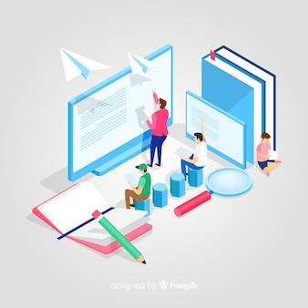 Illustrazione di educazione isometrica