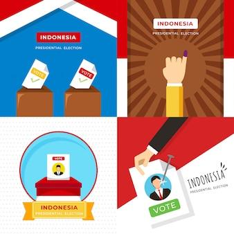 Illustrazione di elezione presidente indonesia