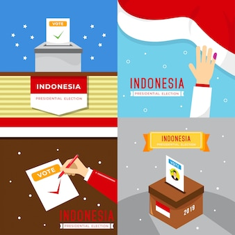 Illustrazione di elezione presidente indonesia