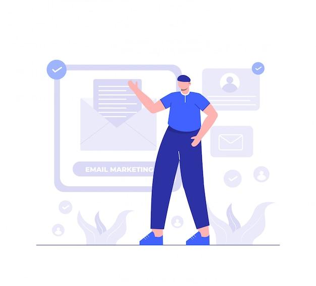 Illustrazione di email marketing per modello di pagina di destinazione