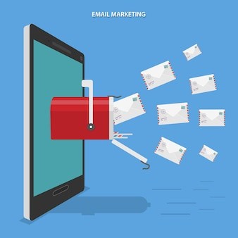 Illustrazione di email marketing