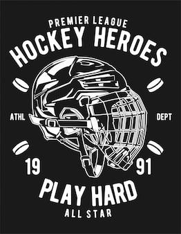 Illustrazione di eroi di hockey