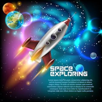 Illustrazione di esplorazione spaziale