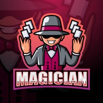 Illustrazione di esport mascotte del mago