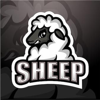 Illustrazione di esport mascotte di pecora