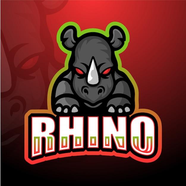 Illustrazione di esportazione mascotte di rinoceronte