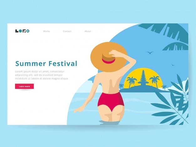 Illustrazione di estate per la pagina di destinazione