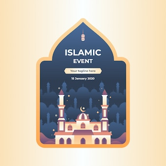Illustrazione di evento islamico