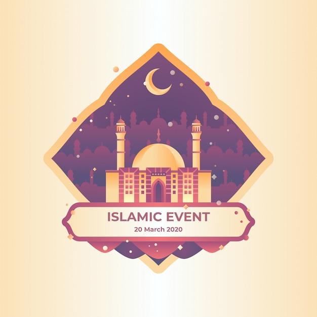 Illustrazione di evento islamico