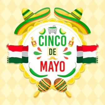 Illustrazione di evento piatto cinco de mayo