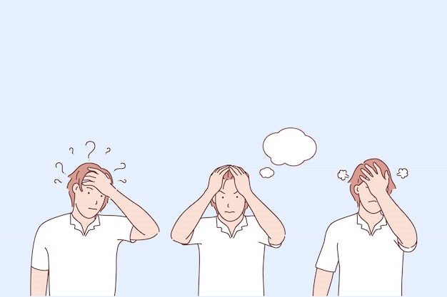 Illustrazione di fasi di consapevolezza del problema