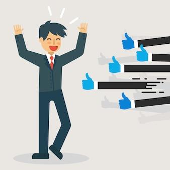 Illustrazione di feedback positivo.