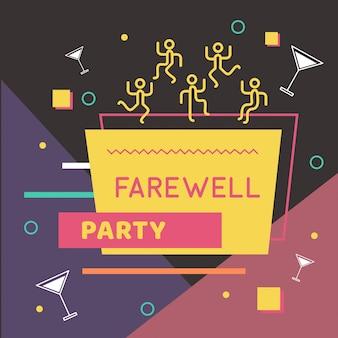 Illustrazione di festa d'addio