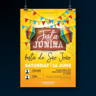 Illustrazione di festa junina party flyer