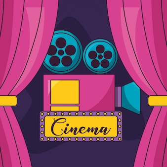 Illustrazione di film cinema