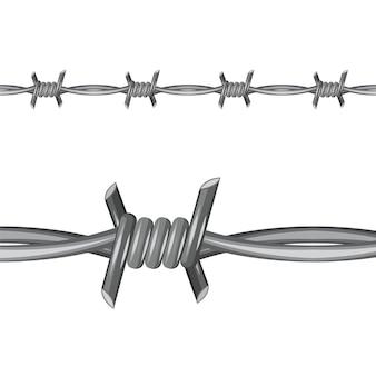 Illustrazione di filo spinato.