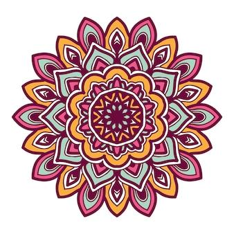Illustrazione di fiore colorato mandala