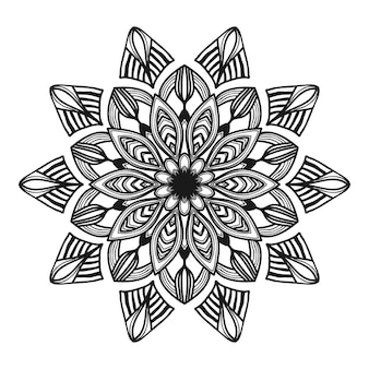 Illustrazione di fiori di mandala