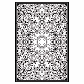 Illustrazione di fiori floreali ornamento ornato disegno vettoriale