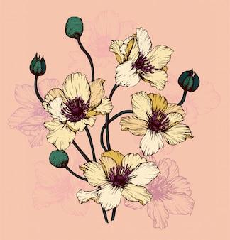 Illustrazione di fiori gialli