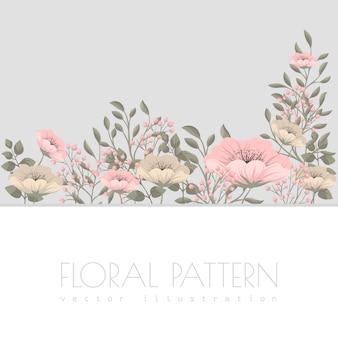 Illustrazione di fiori rosa