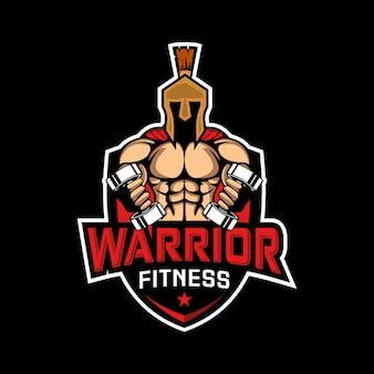 Illustrazione di fitness sport guerriero spartano