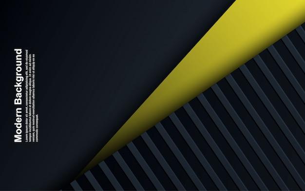 Illustrazione di fondo astratto nero e blu con colore giallo