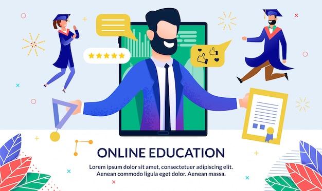 Illustrazione di formazione online