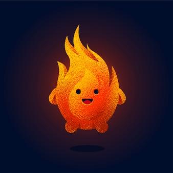 Illustrazione di fuoco carino
