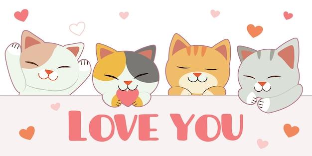 Illustrazione di gatti carino