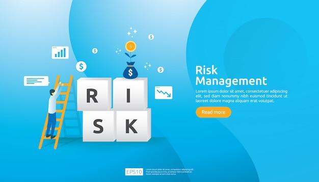 Illustrazione di gestione dei rischi