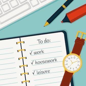 Illustrazione di gestione del tempo