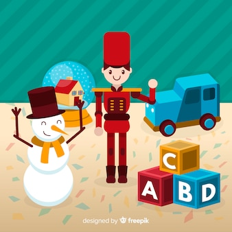 Illustrazione di giocattoli di natale