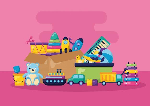 Illustrazione di giocattoli per bambini