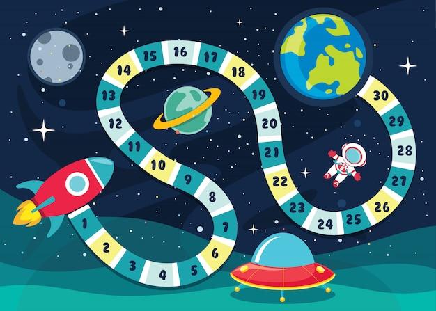 Illustrazione di giochi da tavolo di numeri per istruzione dei bambini